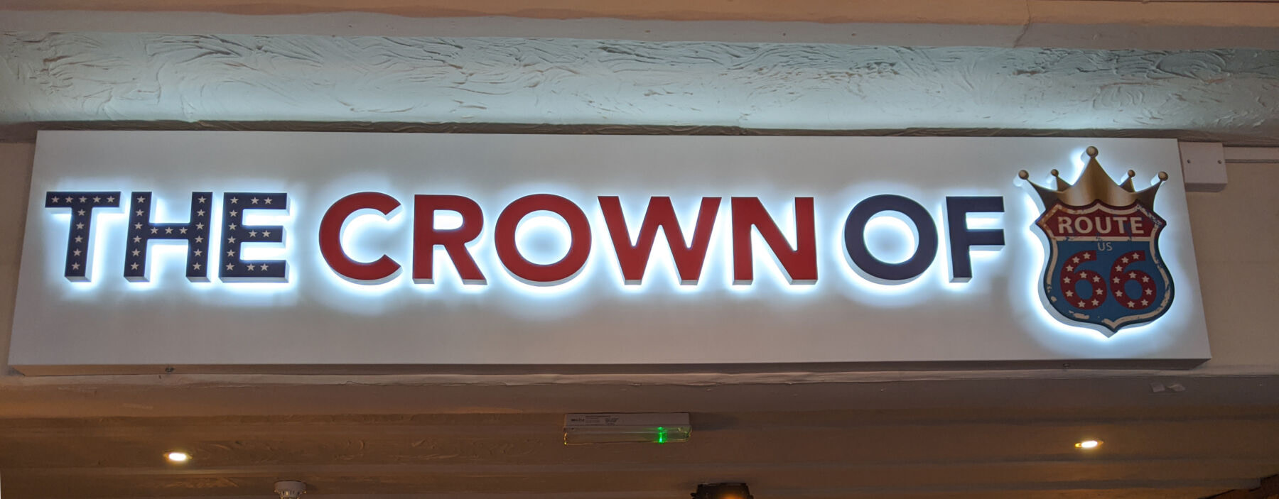 Illuminated Signage - The Crown of Route 66