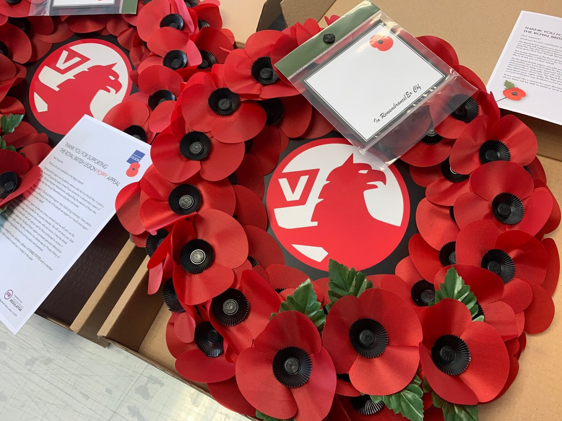 Vauxhall branded remembrance wreaths